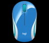myš Logitech Wireless Mini Mouse M187 modrá