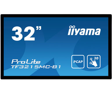 "32"" iiyama TF3215MC-B1: FullHD, capacitive, 500cd/ m2, VGA, HDMI, černý"