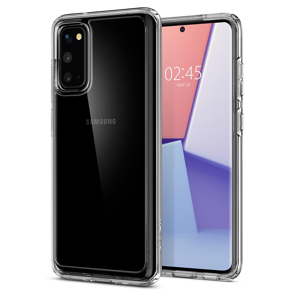 Ochranný kryt Spigen Ultra Hybrid pro Samsung Galaxy S20 transparentní