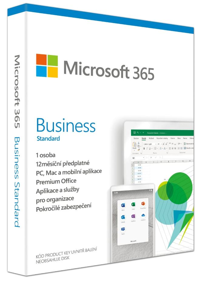Microsoft 365 Business Standard P6 Mac/ Win, 1 rok, CZ