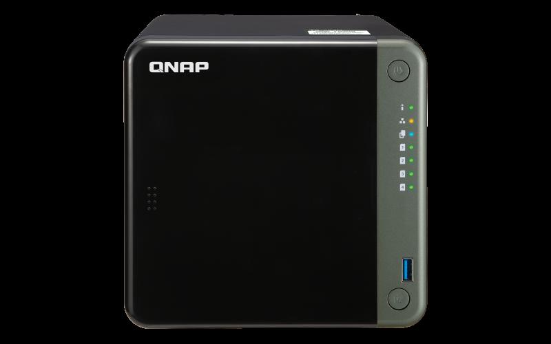 QNAP TS-453D-8G (2, 7GHz / 8GB RAM / 4x SATA / 1xHDMI 4K / 1xPCIe / 2x2, 5GbE / 3xUSB 2.0 / 2xUSB 3.