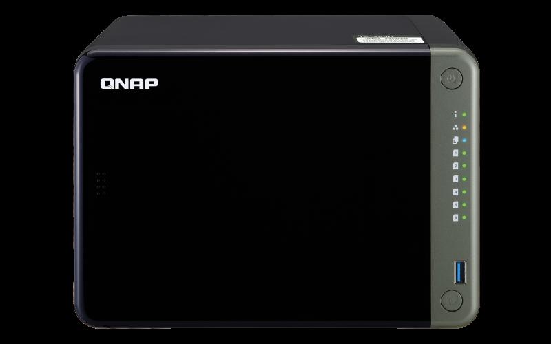 QNAP TS-653D-4G (2, 7GHz / 4GB RAM / 6x SATA / 1xHDMI 4K / 1xPCIe / 2x2, 5GbE / 3xUSB 2.0 / 2xUSB 3.