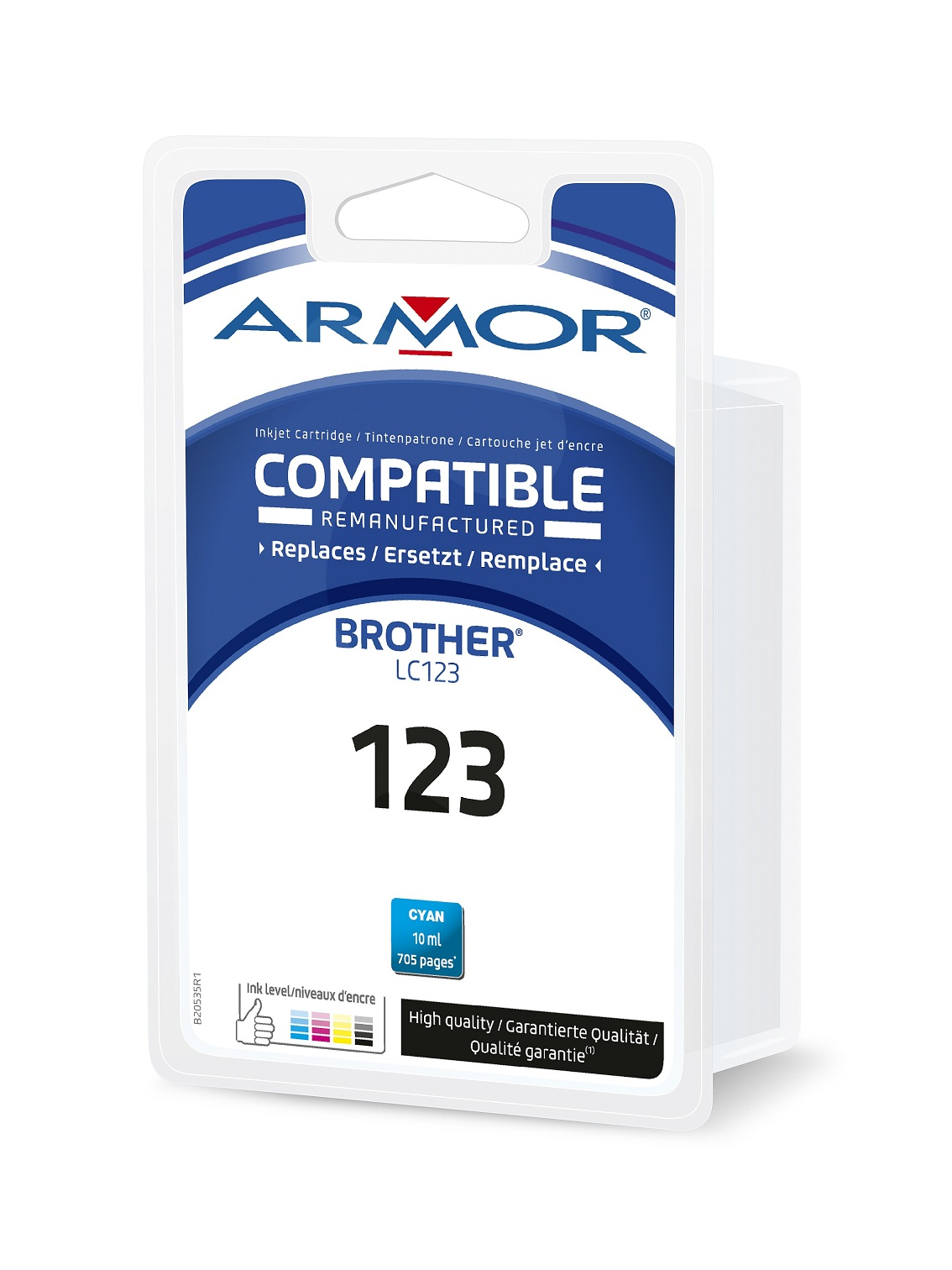 Armor ink-jet pro BROTHER LC-123C, modrá/ cyan