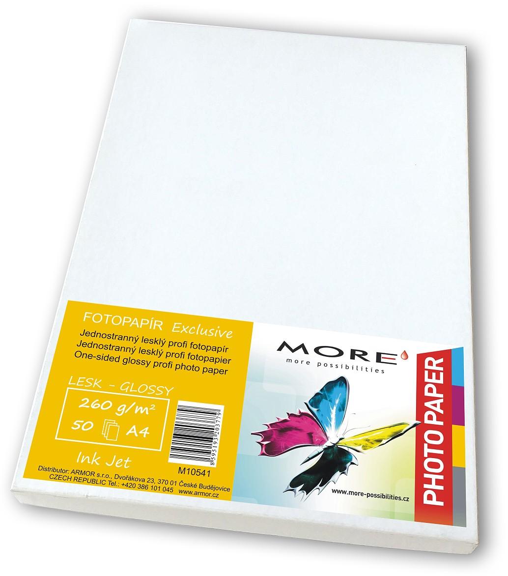 Fotopapír 50 listů, 260g/ m2, glossy, Ink Jet