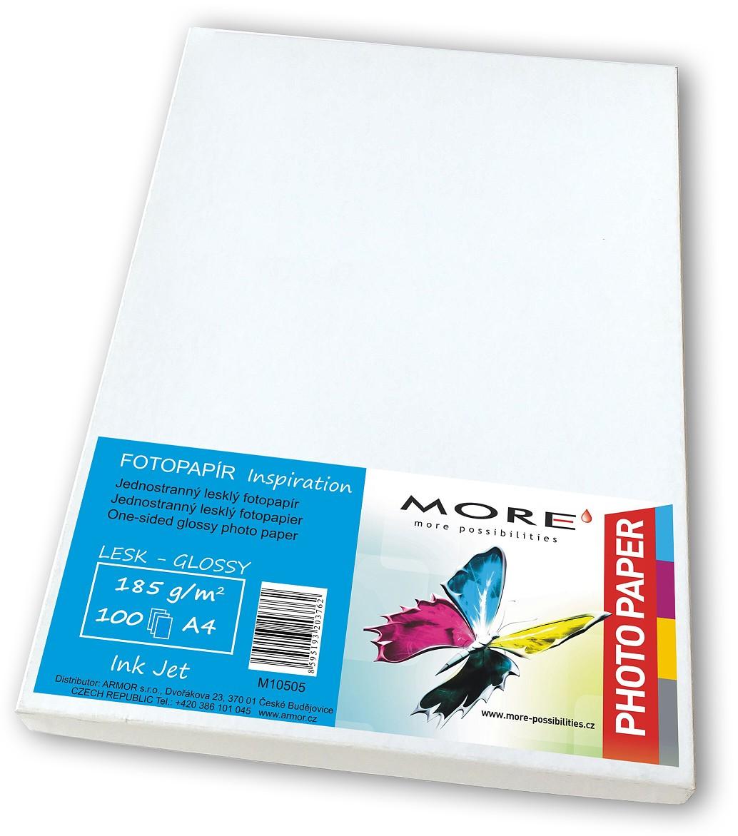Fotopapír 100 list.180g, 1str.lesklý Ink Jet