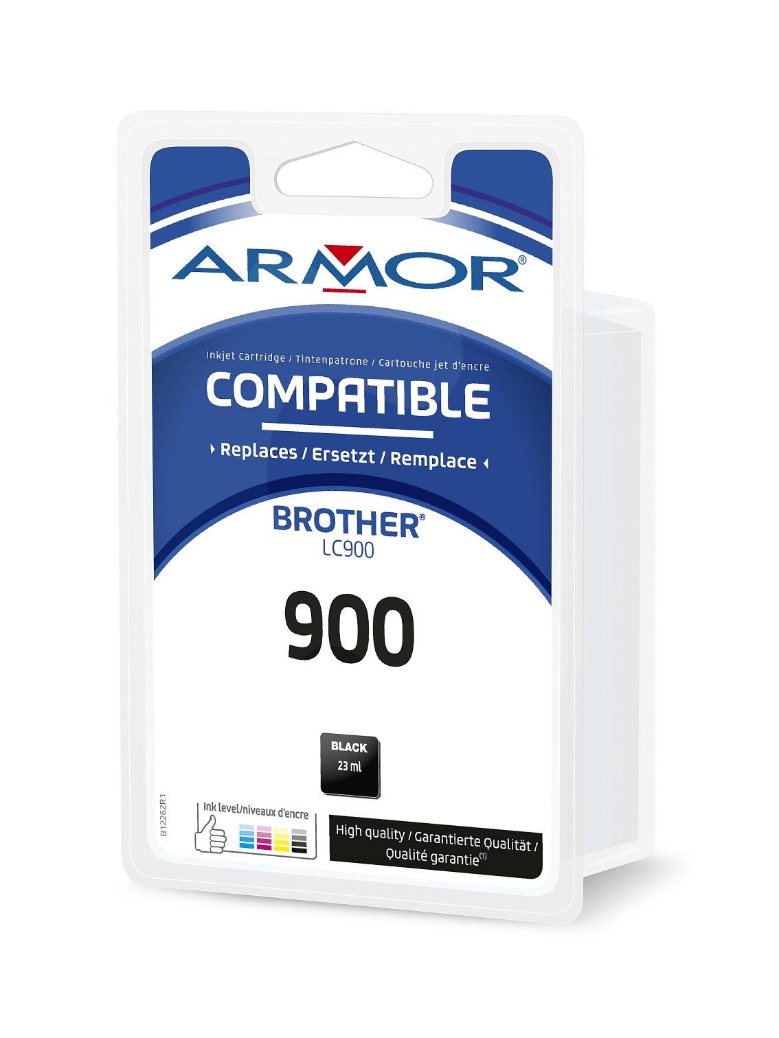 Armor ink-jet pro BROTHER LC—900BK, černá/ black