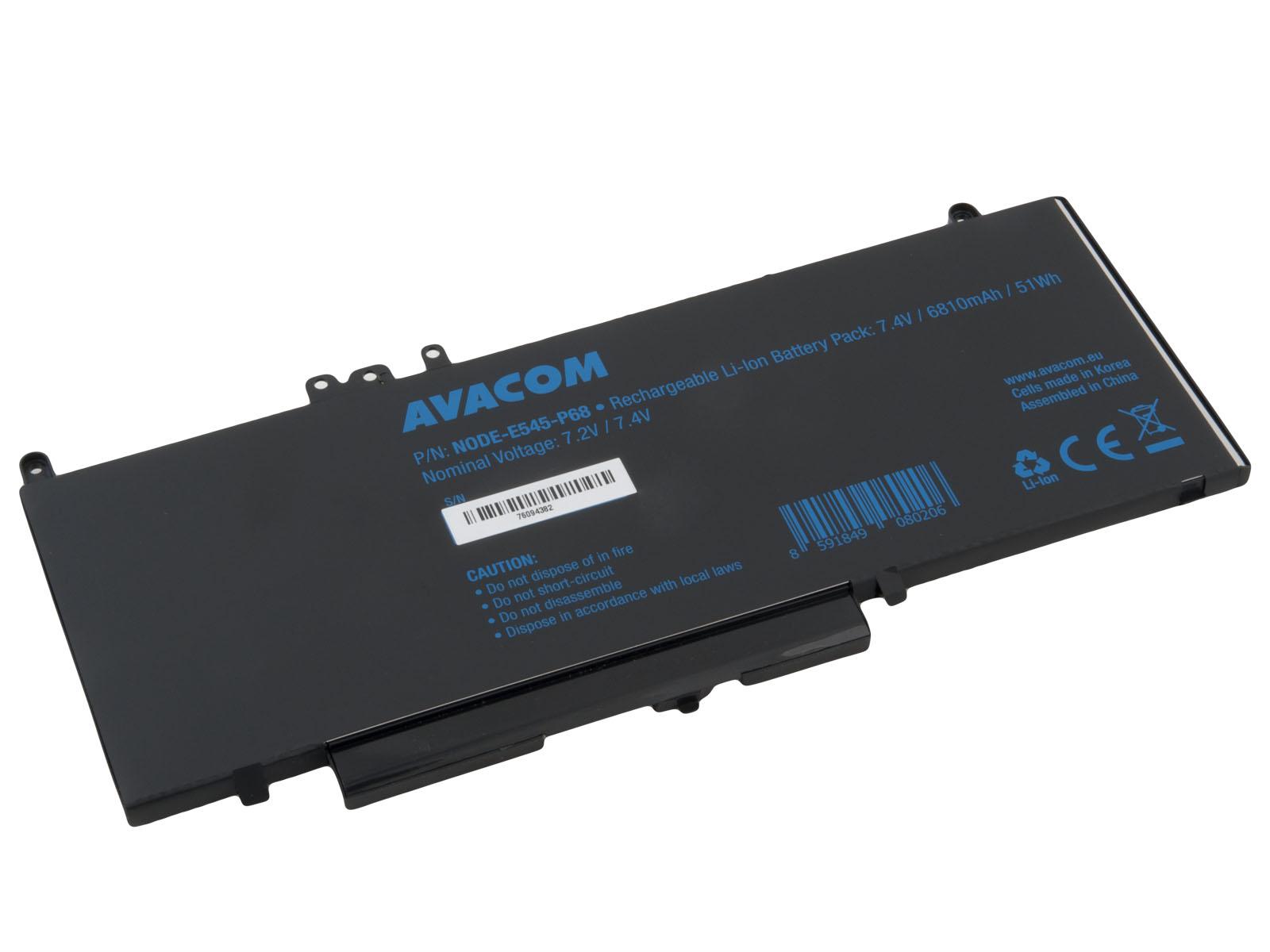 Baterie AVACOM pro Dell Latitude E5450 Li-Pol 7, 4V 6810mAh 51Wh
