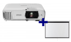 3LCD Epson EH-TW750 Full HD 3500 Ansi, WiFi + plátno Aveli 200 x 125
