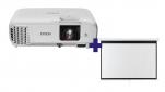 3LCD Epson EH-TW740 Full HD 3300 Ansi, WiFi + plátno Aveli 200 x 125