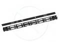 Vertikální vyvazovací žlab 42U kovový s krytem, BK, VVZ-K-42-B