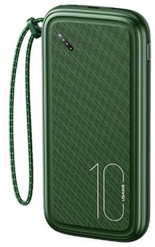 USAMS CD150 Powerbanka s Poutkem 10000mAh Dark Green