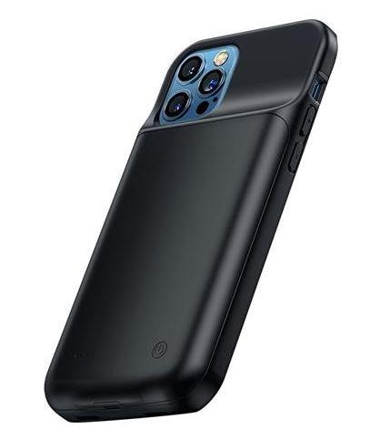 USAMS CD158 Kryt s Baterií pro iPhone 12 Pro Max 4500mAh Black
