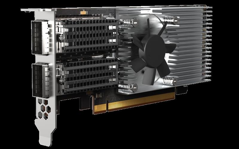 QNAP QXG-100G2SF-E810 - 100GbE (2porty) PCIe karta; nízký profil; PCIe Gen4 x16
