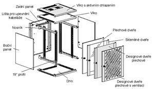 Knurr ConAct 12U Š600 H500, skleněné dveře