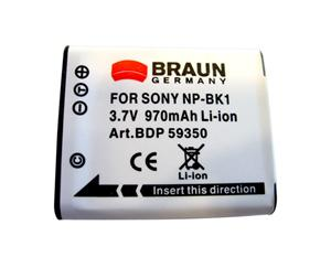 Braun akumulátor SONY NP-BK1, 970mAh