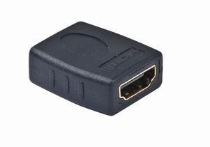 Kab. redukce HDMI-HDMI F/ F, zlacené kontakty, černá