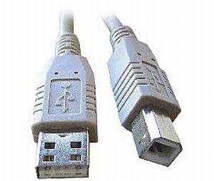USB kabel typu AB, délka 4, 5m HQ Black