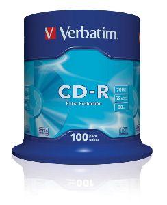 VERBATIM CD-R(100-Pack)Spindl/ ExtraProtect/ 52x/ 700