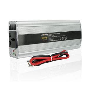 WE Měnič napětí DC/ AC 12V / 230V, 800W, USB
