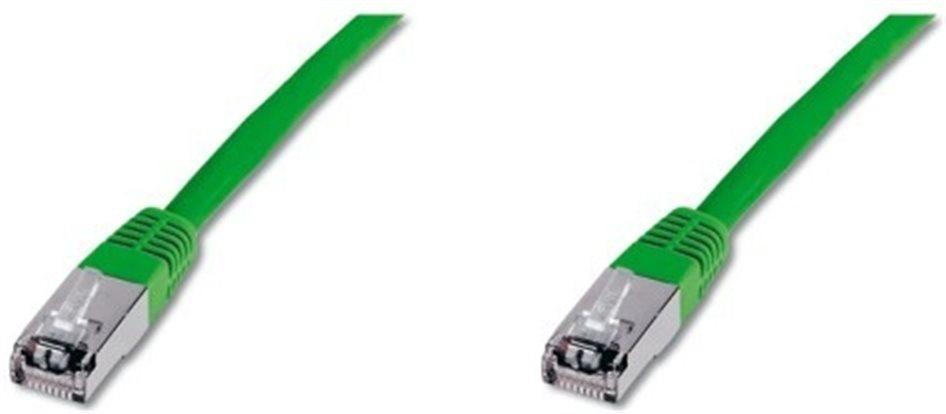 Patchkabel STP, Cat6, 2xRJ45, 7m zelený