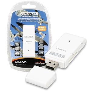 AXAGON CRE-D4, USB 2.0 externí HANDY čtečka 4-slot SD/ MicroSD/ MS/ M2, bílá