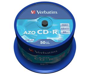VERBATIM CD-R(50-Pack)Spindl/ Crystal/ DLP/ 52x/ 700MB