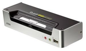 ATEN 2port KVMP USB HDMI, usb hub, audio
