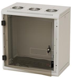 Nástěnný rack RUA 18U/ 400mm odn.boč+skl.dv.