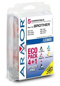 Armor ink-jet Brother 10/ 6ml(LC985BK/ C/ M/ Y)