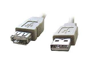 Kabel USB A-A 1, 8m 2.0 prodluž, HQ Black, zlac.kont.